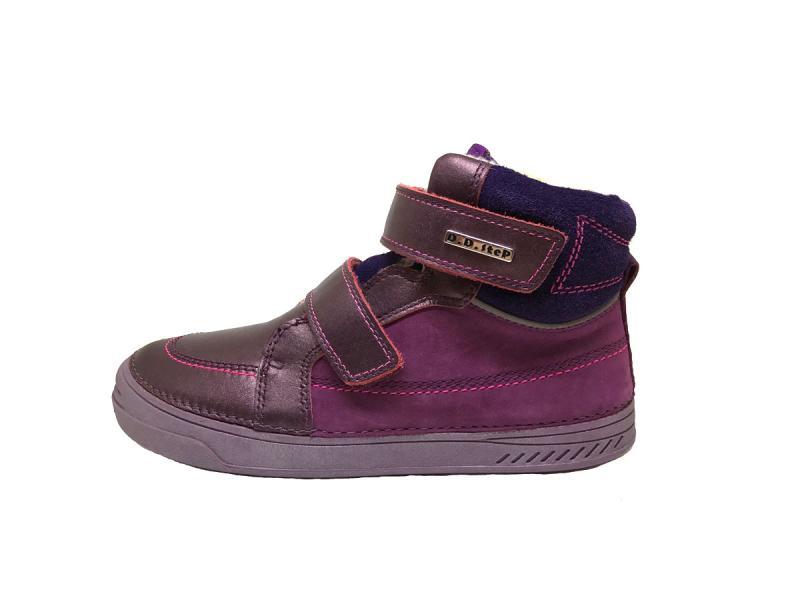 b4348fff63cb D.D.step zimné fialové mix detské topánky s kožušinkou na suchý zips 31-36  pre